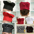 Hot Chef Hat Round Cap Pleated Hat Mushroom Tall Baker Cook Chefs Hat New