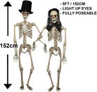 HALLOWEEN 5FT POSEABLE SKELETON LIFE SIZE BRIDE AND GROOM TALL DECORATION