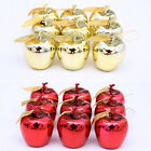 12 Pcs Christmas Tree Hanging Apple Decorations Baubles Party Ornament Decor