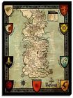 Canvas Print Wall Art Of Game Of Thrones Map - 4
