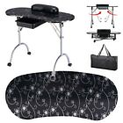 NEW FOLDABLE PORTABLE MOBILE MANICURE NAIL ART TABLE TECHNICIAN DESK STATION CE