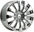 4-NEW Pacer 776C Silhouette 18x7.5 5x108 5x114.3 +42mm Chrome Wheels Rims