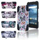 Hybrid Rugged Impact Rubber Stand Hard Phone Case Cover for ZTE Avid/Cheers/Trio