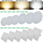 6W/9W/12W/15W/18W/21W/24 LED Recessed Ceiling Panel Down Light Bulb Lamp Fixture