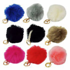 FAUX FUR POMPOM KEYRING/BAG DECORATION (5 COLOURS) STYLE: 60701