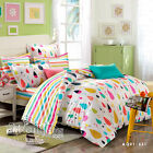 Quilt/Doona/Duvet Cover Set 100% Cotton Double/Queen/King Bed Size New Linen