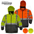 Внешний вид - Hi-Vis Insulated Safety Bomber Reflective Jacket Coat Road Work HIGH JORESTECH