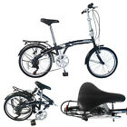 "20"" 26"" Folding Bike 7 Speed Bicycle Foldable Storage Shimano School Mountain"