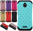 Alcatel Streak HYBRID IMPACT Hard Dazzling Diamond Case Cover +Screen Protector