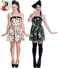 HELL BUNNY I HEART ZOMBIE skulls MINI DRESS POLKA DOT alternative BLACK PINK