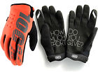 2017 100% BRISKER COLD WEATHER WINTER MOTOCROSS ENDURO GLOVES CALTRANS ORANGE