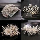 Elegance Delicate Bride Crystal Pearl Head Jewelry Women Wedding Party Hair Comb