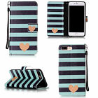For Apple iPhone Phones Cute Pattern Magnetic Card Wallet Leather Case Cover