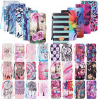 For Apple iPhone Phones Clever Pattern Magnetic Card Wallet Leather Case Cover