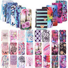 For Apple iPhone Phones Adroit Pattern Magnetic Card Wallet Leather Case Cover