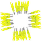 """1/4"""" & .297""""-.302"""" Lighted LED Color Aluminum Wood Crossbow Arrow Bow Nocks SetBowhunting - 159037"""