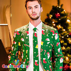 Adult Mens Opposuit Santaboss Christmas Party Suit Fancy Dress Costume Outfit