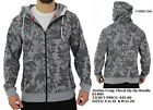 Mens floral print Zip Up Hoody Hoodie Jacket Fashion Casual Hoody Jacket S-2XL