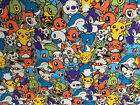 Pokemon Pikachu cotton fabric DIY cloth canvas cover Curtain Quilting Sewing