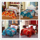 New Floral Blankets Queen Size Bed Linen Super Warm Soft Lush Comforter Flannel