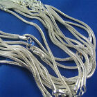 """wholesale 2mm 925 Sterling silver Stamp Plt Snake Chain Necklace 16""""18""""20""""22""""24"""""""