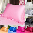 Hot Pillow Case Luxury Case Silk Satin Housewife Pack Bedroom Soft Pillow Cover