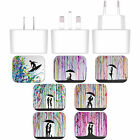 MARC ALLANTE SILHOUETTES WHITE UK CHARGER & USB CABLE FOR APPLE iPHONE PHONES