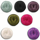 Riva Home Cirque Sateen Button Filled Round Cushion, 35 Cm Diametre