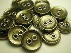New 12  Gold Buttons plastic sizes 5/8 11/16 7/8, 1 1/8 inch,coat large  P8