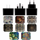 ANDI GREYSCALE KALEIDOSCOPE BLACK UK CHARGER & MICRO-USB CABLE FOR SONY PHONES 1