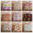 Floral Blankets Single/Double/Queen Size Bed Linen Lush Warm Super Soft Flannel