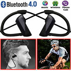 Wireless Bluetooth4.0 Sport Earphone Stereo Headset Sweatproof Earbuds Headphone