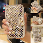 New Bling Diamond Rhinestone Leather Wallet Stand Case Cover For iPhone 7/7 Plus