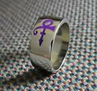 Prince Roger Nelson The Artist Love Symbol Purple Black Wide Band Size 7 8 9 10