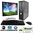 CLEARANCE!!! Fast Dell Desktop Computer PC Core 2 Duo WINDOWS 10 Tower + LCD