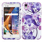 For LG X Style L56VL L53BG IMPACT TUFF HYBRID HARD Case Rubber Skin Phone Cover