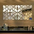 32pcs 3D Vine Mirror Wall Stickers Art Acrylic Tile Decal Home Decor Removable