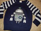 NWT 12-18M or 2T GyMbOrEe ROBOT Long Sleeve Sweater Holiday Shirt Top