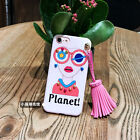 3D Beautiful Girl Hob-nail Tassel Floral Soft Case For iPhone 7 7 Plus 6 6S Plus