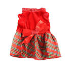 Lovely Pet Dog Puppy Cat Red Plaid Christmas Dress Apparel Outerwear Clothes New