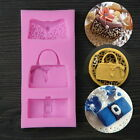 Silicone Fondant Lace Mould Cake Decorating Purse High Heel Shoes Mold Tool