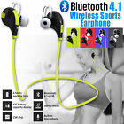 Bluetooth 4.1 Wireless Sports Stereo Headphones Earphones Earbuds For Iphone Sam