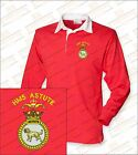 HMS ASTUTE Embroidered Crested Premium Long Sleeved Rugby Shirt