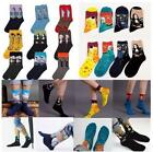 1Pair Women Men Designer Winter Socks Art Painting Couple Lovers Character Gift