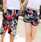 Men Women Unisex Shorts Trunks Flora Lace Up Swimming Board Shorts L XL 2XL ♫