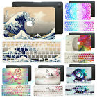 Matched Pattern Printing Hard Rubberized Case Keyboard Cover for Macbook Laptops