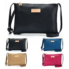 Womens Girl PU Leather Handbag Crossbody Shoulder Messenge Bag Tote Clutch Purse