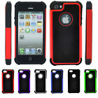 3 in1 Protective Shockproof Silicone Rubber Cover Case Phone Bag For iPhone 5 5s