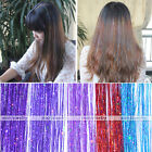 "5pcs 24""L Highlight Shimmer Colorful Seamless Long Tinsel Hair Extension"