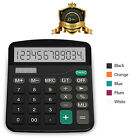 Helect Calculator Standard Function Business Desktop Calculator with LCD Display